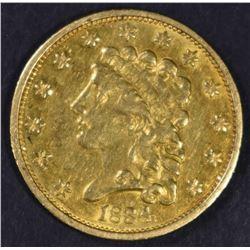 1834 $2.5 GOLD CLASSIC  NICE AU