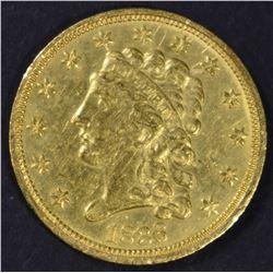 1836 $2.5 GOLD LIBERTY  CH BU