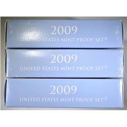 3 2009 U.S. MINT PROOF SETS