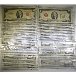 39 $2 RED SEAL US NOTES, MIXED DATES