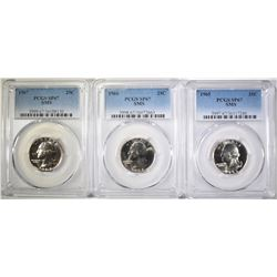 SMS QUARTER SET, ALL PCGS SP-67