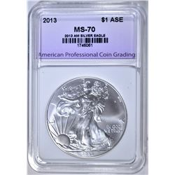 2013 AMERICAN SILVER EAGLE APCG PERFECT GEM BU