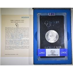 1884-CC MORGAN DOLLAR NGC MS-63 GSA BOX & CERT