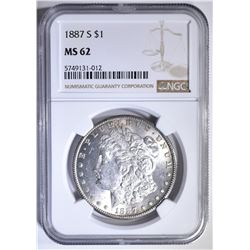 1887-S MORGAN DOLLAR NGC MS-62