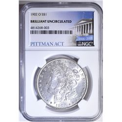 1902-O MORGAN DOLLAR NGC BRILLIANT UNCIRCULATED