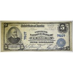 1902 $5 CITIZENS NATIONAL BANK VICKSBURG