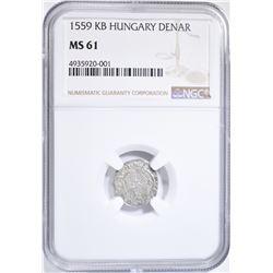 1559 KB HUNGARY DENAR NGC MS-61