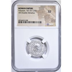 AD 251-253 VOLUSIAN AR DOUBLE-DENARIUS NGC XF