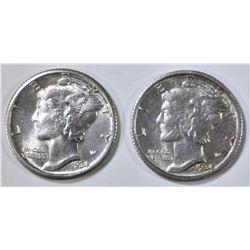 1934 CH BU FB & 34-D CH BU MERCURY DIMES
