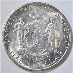 1920 MAINE COMMEM HALF DOLLAR  CH BU