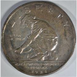 1925-S CALIFORNIA COMMEM HALF DOLLAR  BU