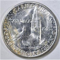 1935-S SAN DIEGO COMMEM HALF DOLLAR  GEM BU