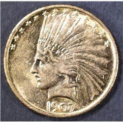 1907 $10 GOLD INDIAN  BU