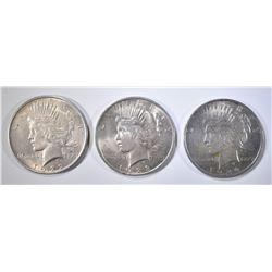 2-1922, 1923 PEACE DOLLARS AU/BU