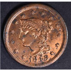 1848 LARGE CENT  BU