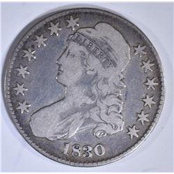 1830 BUST HALF DOLLAR  VG