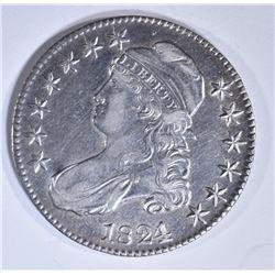 1824/1 BUST HALF DOLLAR  AU
