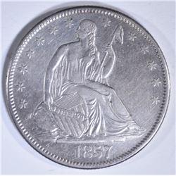 1857-O SEATED LIBERTY HALF DOLLAR  AU