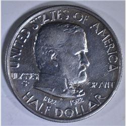 1922 GRANT COMMEM HALF DOLLAR  AU/BU