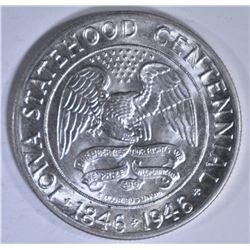 1946 IOWA COMMEM HALF DOLLAR  CH BU