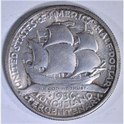 1936 LONG ISLAND COMMEM HALF DOLLAR  CH BU