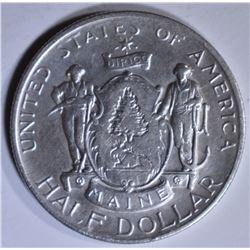 1920 MAINE COMMEM HALF DOLLAR  AU