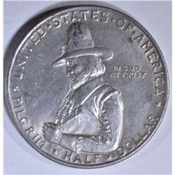 1920 PILGRIM COMMEM HALF DOLLAR  AU