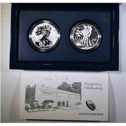 2013 AMERICAN EAGLE WEST POINT 2-COIN SILVER SET