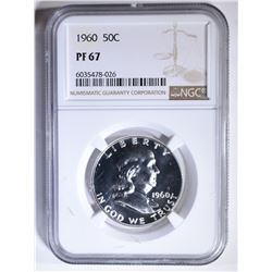 1960 FRANKLIN HALF DOLLAR, NGC PF-67