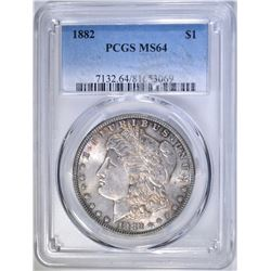 1882 MORGAN DOLLAR PCGS MS-64
