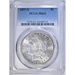 1897-S MORGAN DOLLAR PCGS MS-62
