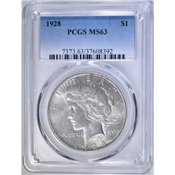 1928 PEACE DOLLAR, PCGS MS-63