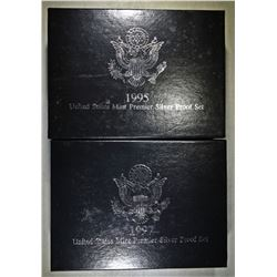 1995 & 1997 PREMIER SILVER PROOF SETS