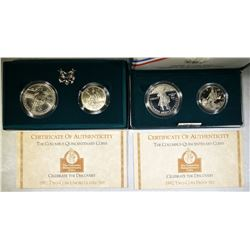 2-1992 COLUMBUS QUINCENTENARY TWO-COIN SETS