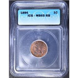 1896 INDIAN CENT ICG MS-65 RB