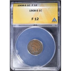 1908-S INDIAN CENT ANACS F-12