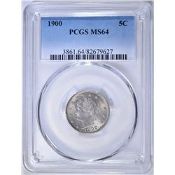 1900 LIBERTY NICKEL PCGS MS-64