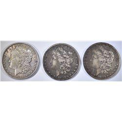 1883, 1880 & 1896 CIRC MORGAN DOLLARS