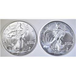 2-2003 BU AMERICAN SILVER EAGLES