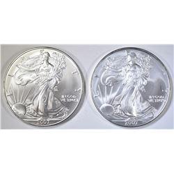 2-2007 BU AMERICAN SILVER EAGLES