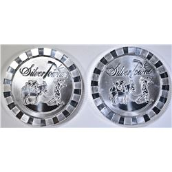 2-ONE Oz .999 SILVER SILVERTOWNE STACKABLE ROUNDS