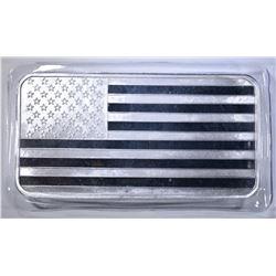 TEN OUNCE .999 SILVER BAR AMERICAN FLAG