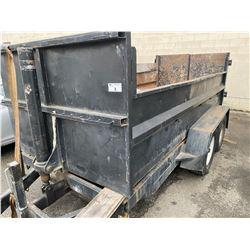 DUMP TRAILER, NO REGISTRATION BOX SIZE APPROX 12'X5'