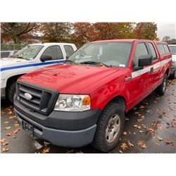 2006 FORD F-150 XL, CREW CAB PU, RED, VIN # 1FTPX14586FA02431