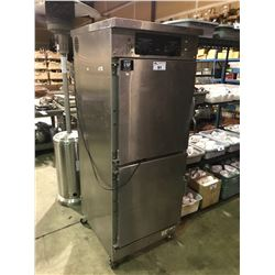 WINSTON C-VAP COMMERCIAL STAINLESS STEEL DOUBLE SIDED 4 DOOR MOBILE FOOD HOLDING CABINET