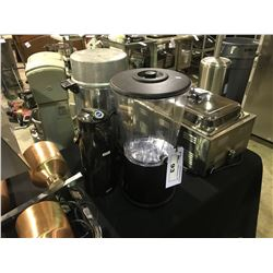 COMMERCIAL STAINLESS STEEL ELECTRIC COFFEE POT, CURTIS CRAFT & BLACK TABLE TOP DRINK DISPENSER