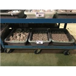3 BUS TRAYS OF ASSORTED COMMERCIAL GLASS / DISHWARE