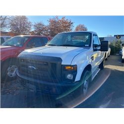 2008 FORD F-250 XL SUPER DUTY, 2DR PU, WHITE, VIN # 1FTNF20558EE04521
