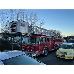 1990 FEDERAL MOTORS LADDER, 4 DOOR FIRE TRUCK, RED,  VIN#46JDBBA83L1003506