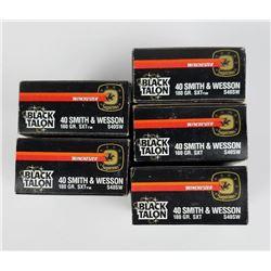 5 Boxes Winchester Black Talon 40mm S&W
